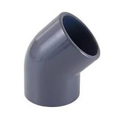 GOMITO 45^ PVC INCOL. PN16 DE 40 x 11/4